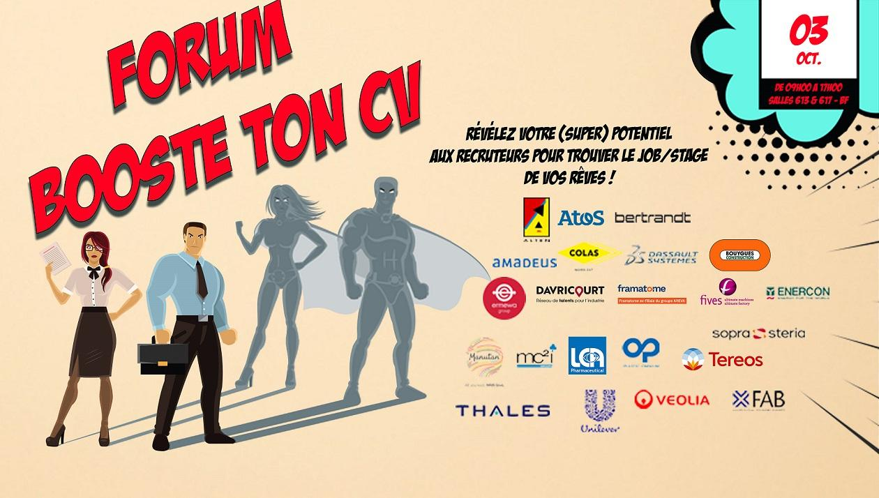 Forum Booste ton CV le 03 octobre 2019 !