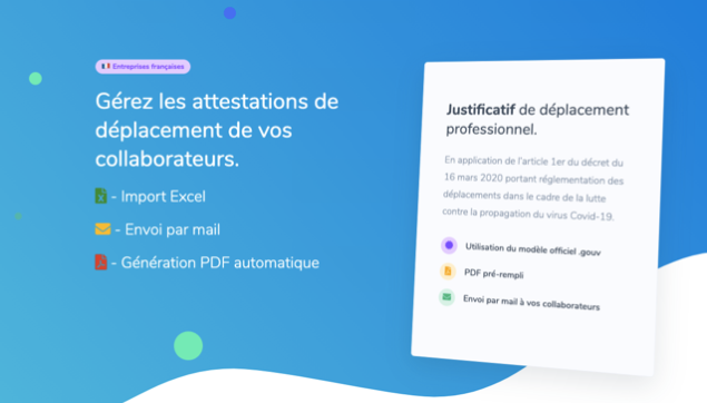 WebFabrick - Attestations employeur de déplacement